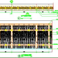 竹篱笆分户墙CAD施工图