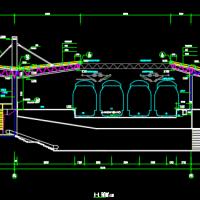 温州南至福州段苍南站站台雨棚工程施工图