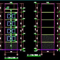 个人设计的五层框架结构消防训练塔建筑设计施工图