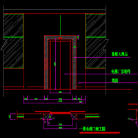 电梯门套施工详图