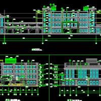 湖南长沙6945平米四层框架小学教学楼全套图纸(含水电暖、建筑结构图)