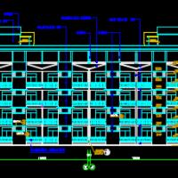 四川8343平米中学学生公寓楼建筑结构给排水施工图