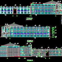 三层框架结构商业楼全套施工图纸(含建筑结构水电)2015年5377平米
