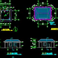 6X6米坡屋顶门房建筑图