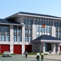 某消防站办公楼及训练馆建筑设计施工图
