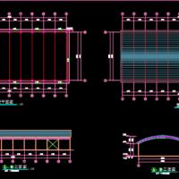 单层钢管桁架钢结构蔬菜批发市场大棚结构施工图