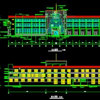 3566平米三层框架结构消防站建筑施工图