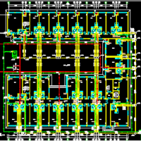 六层公寓给排水CAD设计图