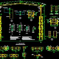 某重钢车间钢管混凝土柱施工图(含建施)