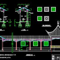 连廊四角亭园林设计施工图