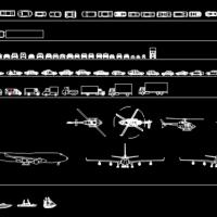 陆海空各种交通工具图块(卡车 救护车 汽车 飞机 公交车)