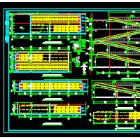 自动坡道梯及自动扶梯CAD详图