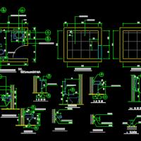 残疾人卫生间详图(无障碍卫生间CAD详图)