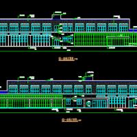 扬州3406平米两层职工食堂建筑结构水电施工图