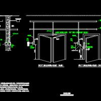 可视对讲系统与门禁系统安装大样CAD图