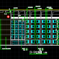 12312平米五层精神病医院建筑图