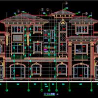19.6X10.4安徽三层法式双拼别墅建筑图
