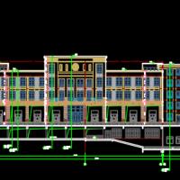 重庆某消防站办公楼及训练塔建筑结构全套图2016