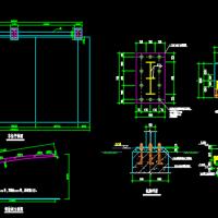 悬挑式钢结构汽车棚结构图
