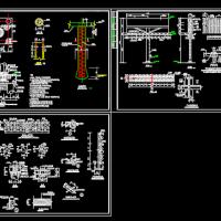 T型广告牌结构施工设计图
