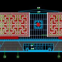 咸宁某圆形博物馆建筑施工图
