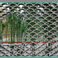 钢结构鱼鳞网景墙施工图