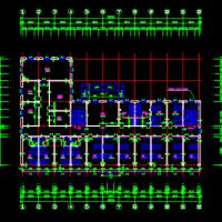 某住宅小区社区服务楼建筑图纸(养老院)