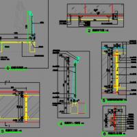 风景区玻璃栈道景观设计施工图