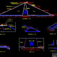 水利枢纽心墙坝设计图