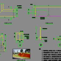 锈钢板花池斜壁花池耐候钢板花池施工图