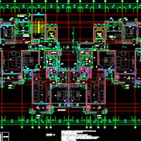 18层一梯四户高层住宅楼户型图