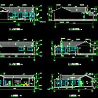 新农村带院一层坡顶住宅建筑图