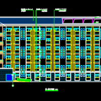 5467.9平方米绵阳职业技术学院宿舍楼建结水电全套施工图