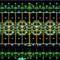 6层框架结构宿舍楼全套施工图纸(建筑结构水电暖)8856平米