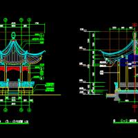 木结构六角亭古建筑CAD施工图