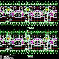 鄂尔多斯3442平米六层住宅楼全套施工图纸(含建结水电暖)一梯三户