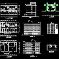 6层宾馆建筑设计图纸