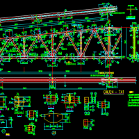 24米跨梯形钢屋架设计图纸
