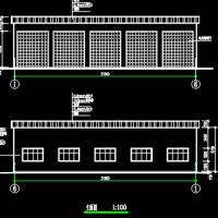 大客车简易车库结构设计图纸