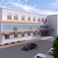四层小型门诊楼建筑方案图(含效果图及3D模型)