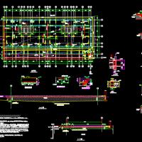 基础换填及筏板基础配筋设计图(含说明)