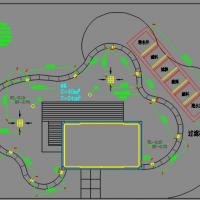 富力湾别墅鱼池给排水设计图