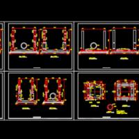 顶管工作井及接收井设计图