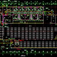 河南驻马店某学校四层框架结构餐厅建筑及结构全套图
