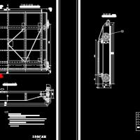 水库溢洪道平面钢闸门CAD施工图