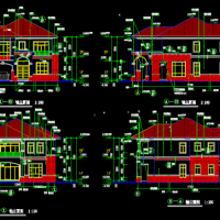 12X17.1两层别墅建筑及结构施工图