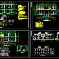 764平米两层砖混结构医院建筑图