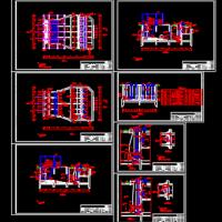 天津某地雨水泵站市政工程CAD设计图纸