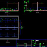 污水处理厂水解酸化池平面及剖面图