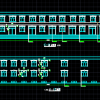 二层文化活动中心建筑及结构全套施工图